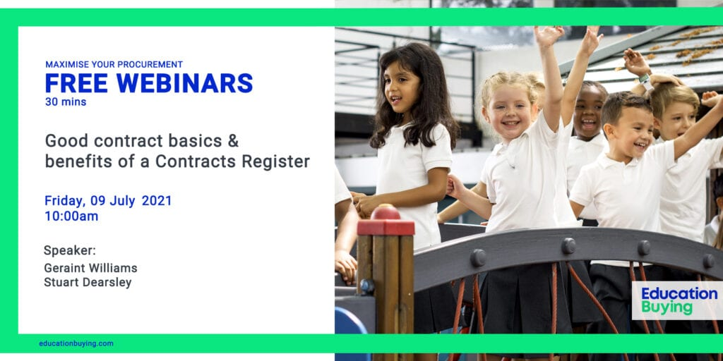 Education Buying - Good contract basics & benefits of a Contracts' Register